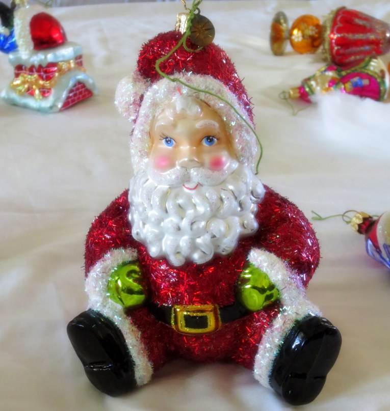 My favorite, the ruby encrusted Santa valued at over $5 million.