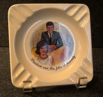 Park your butts on the Kennedys. The ashtray.