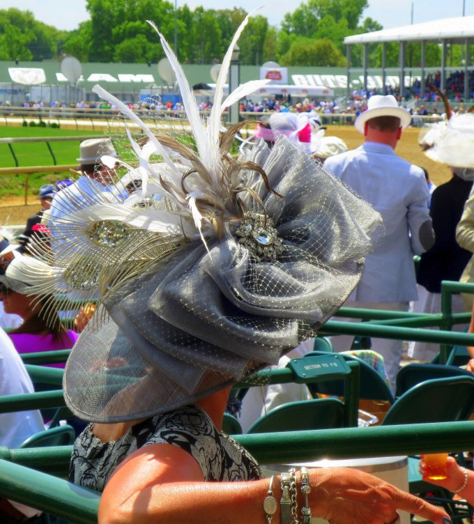 Lady Marjorie never wore diamonds in the country but then it's Derby Day.