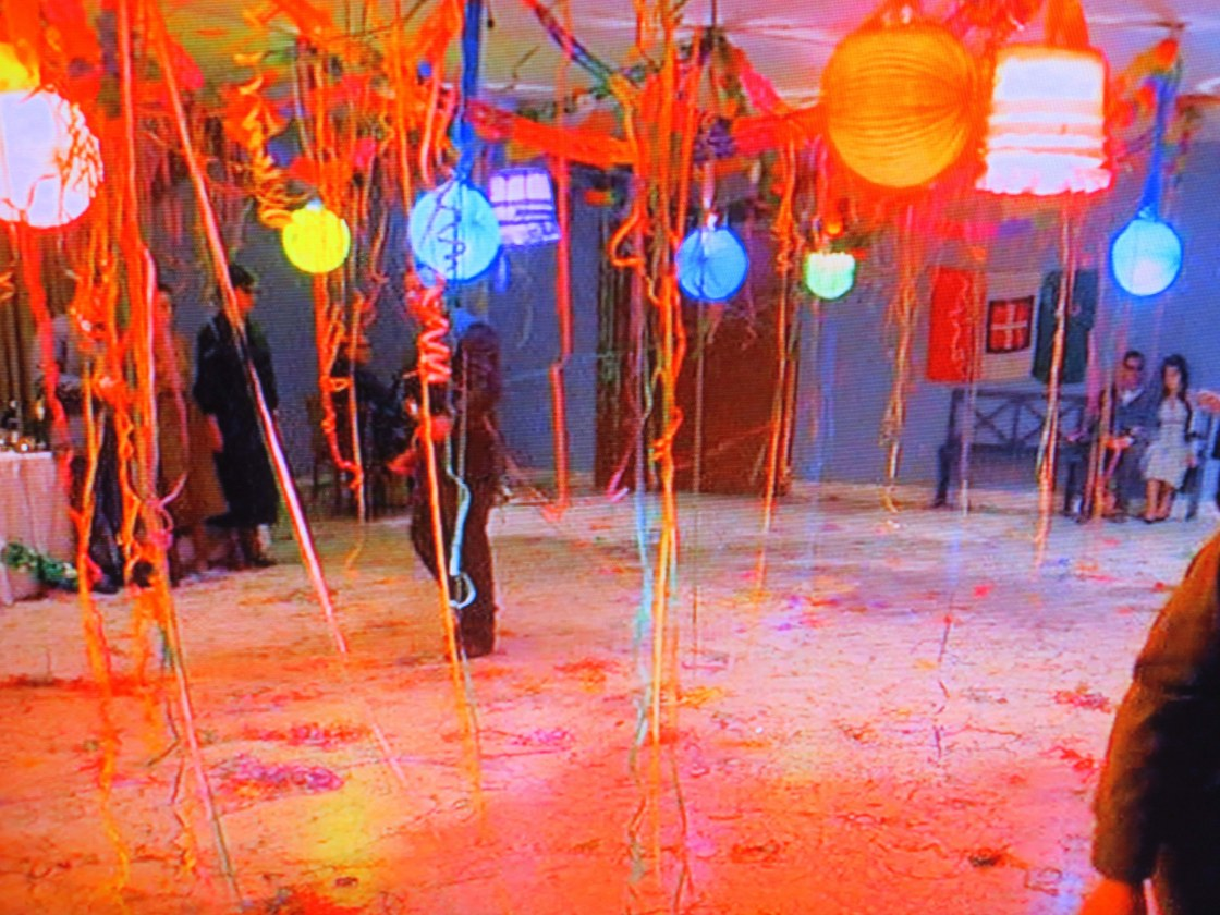 The movie's most vivid colors are in the party for the blind scene.