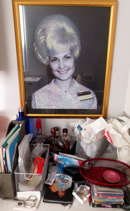 Aunt Bobbie oversees the bar and the miscellany.