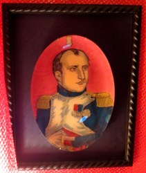 I stumbled over this John Derain Napoleon plate many times when my apartment was in storage upheaval. Finally I just pounded a nail in the wall to hang it until there was time to deal with it. I intended to sell it but it may have found a home.