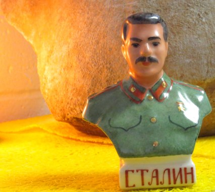 Something you don't see every day: my vintage Stalin figure from the Cathedral of the Spilled Blood.