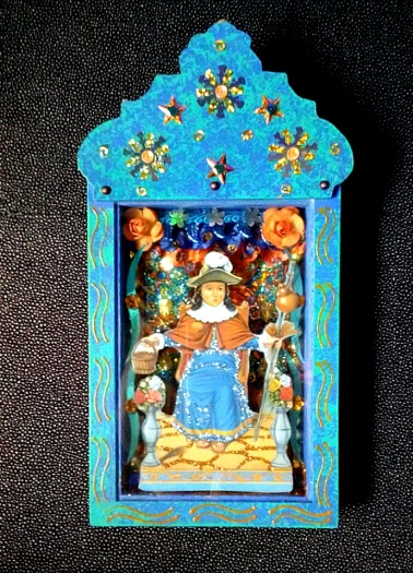 Just another pretty boy. Modern retablo from Mexico City.